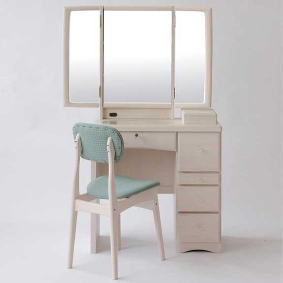 テーブル デスク コンパクト ロータイプ 姫系 ワゴン 可愛い ライト 白 アンティーク ミニMAS-3188 実売価格はさらにお安く【卸】価格はお問い合わせ下さい。3188 フェアリーテール半三面 三面鏡 ドレッサー 鏡台 化粧台