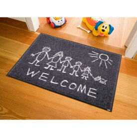 玄関マット 屋外 室内 屋内 洗える 薄型 玄関マット かわいい 丸洗い 玄関マット ウォッシャブル エントランスマットIAA-6883(ウォッシュアンドドライ)Welcome Sunny Side 50×75cm