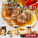 バレンタイン 《3種のオリーブオイル漬けセット》 送料無料 いかガーリック 甘海老ガーリック 牡蠣のオイル漬け ワイ…