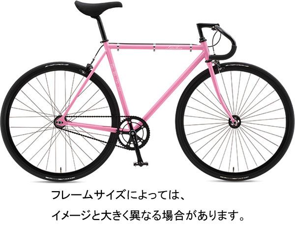 【代引・時間指定不可】在庫わずか FUJI FEATHER フェザー 2016年モデル フレームサイズ490mm ピンク シングルスピード BY-00260-490★