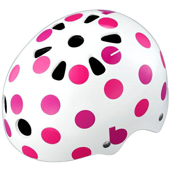【〜10.0kg】bikke キッズヘルメット ドット(ピンク) CHBH4652-WP1 P5785 ブリヂストン お取り寄せ