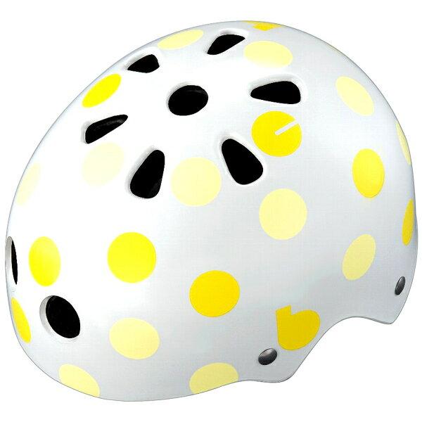 【〜10.0kg】bikke キッズヘルメット ドット(イエロー) CHBH4652-WY1 P5786 ブリヂストン お取り寄せ