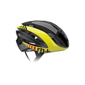 【140】EHX6072 Z ALPHA 01 シャイニーブラック/シャイニーイエローフルオ/マットブラック XS/M rh+ アールエイチプラス ヘルメット EHX6072-BKYLBK-XSM お取り寄せ
