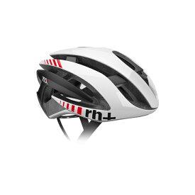 【140】EHX6072 Z ALPHA 02 シャイニーホワイト/シャイニーホワイト/マットブラック L/XL rh+ アールエイチプラス ヘルメット EHX6072-WHWHBK-XLX お取り寄せ