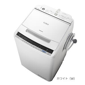 ★【260】BW-V80C-W ホワイト 日立 HITACHI 8.0kg 全自動洗濯機 ビートウォッシュ【楽天あんしん延長保証加入可能】【kk9n0d18p】