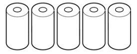 沖縄・離島配送不可【〜10.0kg】お取り寄せ HEM-PAPER-759P オムロン OMRON プリンタ用ロール紙(5巻セット) HEMPAPER759P