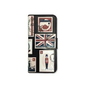沖縄・離島配送不可★【〜2.0kg】i7-UKSP-1069 コズミックブルー iphone7 手帳型ケース UK切手 I7-UKSP-1069
