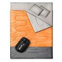 寝袋 2人用 【解体*連結可能&一人*二人利用可能】 Wolfyok(ウルフヨック) 防水シュラフ 封筒型 スリーピングバッグ…