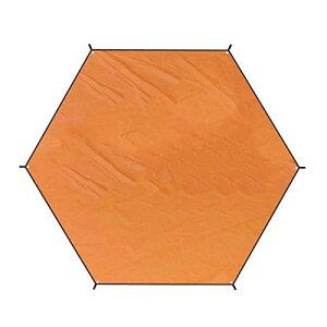 TRIWONDER タープ ヘキサゴン グランドシート 軽量 防水 テントシート マルチシート フライシート 天幕 キャンプ ハンモック用 収納袋付 (オレンジ, XL)