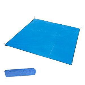 TRIWONDER タープ グランドシート 防水 テントシート 軽量小型 キャンプ たーぷ フロアシート ブルーシート フライシート 天幕シェード フットプリント 収納袋付き