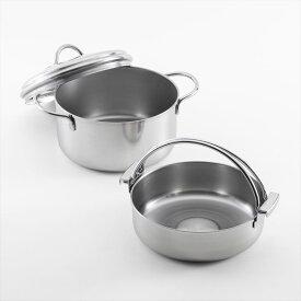 【貝印】オールステンレス すき焼き鍋 & 両手鍋 セット福袋 キッチン 調理道具 料理 父の日 ギフト プレゼント
