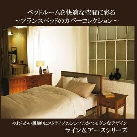フランスベッド 掛布団カバーKサイズ(キング) ライン&アース