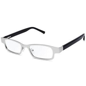 【沖縄・離島配送不可】アイジャスターズ オックスブリッジ シルバー&ブラック 度数可変 シニアグラス ハードケース付 老眼鏡 進行性老眼 夕方老眼 イギリス製 メテックス EYJOXB-SVBK