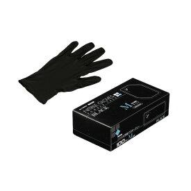 ニトリルゴム手袋 100枚 使い捨て N460 ニトリル手袋 粉無 BLACK (M)サイズ : M入数 : 100単価 : 18.33円(税抜)