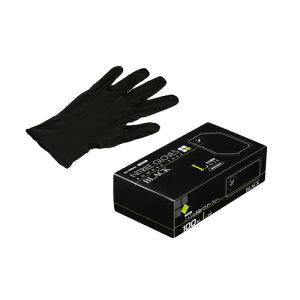 ニトリルゴム手袋 100枚 使い捨て N460 ニトリル手袋 粉無 BLACK (L) サイズ : L 入数 : 100