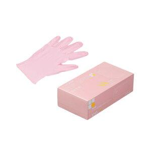 ニトリルゴム手袋 100枚 使い捨て N450 ニトリル手袋 粉無 PINK (SS) サイズ : SS 入数 : 100