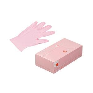 ニトリルゴム手袋 3000枚 使い捨て N450 ニトリル手袋 粉無 PINK (S) サイズ : S 入数 : 3000