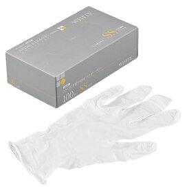 ニトリルゴム手袋 100枚 使い捨て N600 ニトリル手袋 PRIME 粉無 WHITE (SS)サイズ : SS入数 : 100単価 : 17.2円(税抜)