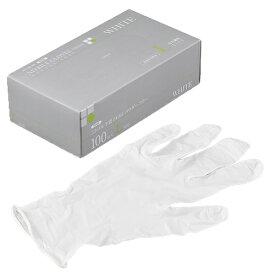 ニトリルゴム手袋 100枚 使い捨て N600 ニトリル手袋 PRIME 粉無 WHITE (L)サイズ : L入数 : 100単価 : 16.8円(税抜)