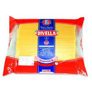 ディベラ No.9 5Kg (1.55mm) スパゲッティーニ パスタ スパゲティ DIVELLAサイズ : 5kg入数 : 1単価 : 1530円(税抜) 業務用 まとめ買い