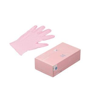 ニトリルゴム手袋 100枚 使い捨て N450 ニトリル手袋 粉無 PINK (M) サイズ : M 入数 : 100