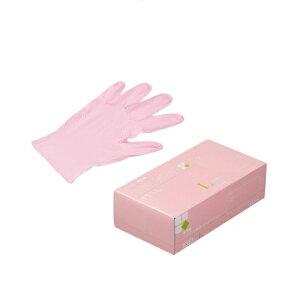 ニトリルゴム手袋 100枚 使い捨て N450 ニトリル手袋 粉無 PINK (L) サイズ : L 入数 : 100