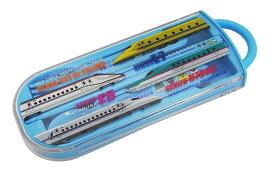 トレインランチシリーズ 新幹線 スライド式トリオセット 青色(ブルー)防音クッション付き