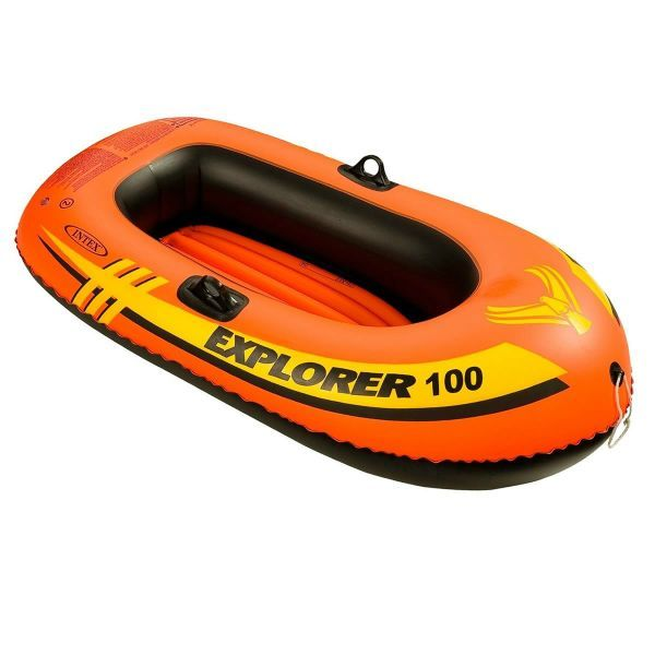 INTEX エクスプローラー100 ワンマンボート58329 一人乗り用 エアーボート 147×84×36cm