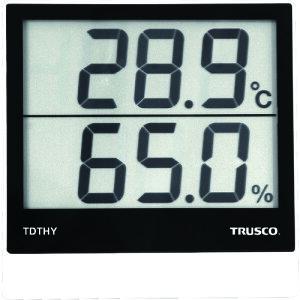 【ポイント10倍】トラスコ中山(株) TRUSCO デジタル温湿度計 TDTHY 【DIY 工具 TRUSCO トラスコ 温度計 湿度計 壁掛け デジタル 温度湿度計 シンプル 工場 倉庫 体育館 事務所 家庭 学校 室内 温度 湿