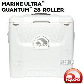 イグルー キャスター付き クーラーボックス マリーンウルトラ QUANTUM 28(約26L) ROLLER【保冷 釣り キャンプ用品 バーベキュー ピクニック アウトドア キャンプ 00045929 igloo 】【M-U-ROLLER】