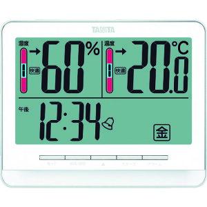 【ポイント10倍】(株)タニタ TANITA デジタル温湿度計 TT‐538‐WH TT-538-WH 【DIY 工具 TRUSCO トラスコ 温度計 湿度計 時計 温度湿度計 デジタル 表示 シンプル 現場 工場 倉庫 体育館 学校 施設 高齢