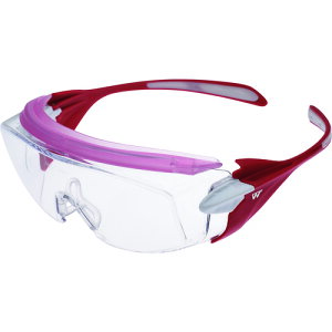 【ポイント10倍】ミドリ安全 小顔用タイプ保護メガネ オーバーグラス VS-303F ピンク VS-303F-PK 【DIY 工具 TRUSCO トラスコ 】【おしゃれ おすすめ】[CB99]