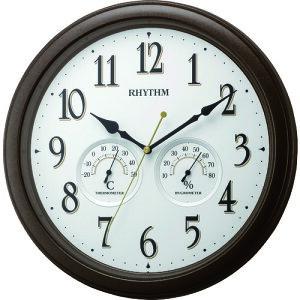 【ポイント10倍】リズム時計工業(株) RHYTHM 温度湿度計付掛時計 8MGA37SR06 【DIY 工具 TRUSCO トラスコ 】【おしゃれ おすすめ】[CB99]