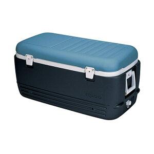 igloo(イグルー) クーラーボックス マックスコールド 100 [MAXCOLD 100 JET CARBON/ICE BLUE/WHITE] 00049496 【ホイール 伸縮ハンドル クーラーボックス イグルー イグロー 保冷ボックス 保冷バッグ キャンプ