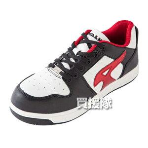 AIR WALK 軽量プロテクティブスニーカー ローカット ブラック×レッド 25.0cm AW-600 [カラー:ブラック×レッド] 【安全靴 作業靴 作業安全靴 安全シューズ セーフティスニーカー セーフティーシュ