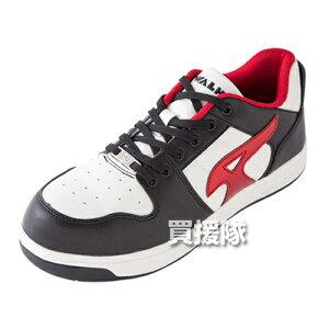 AIR WALK 軽量プロテクティブスニーカー ローカット ブラック×レッド 25.5cm AW-600 [カラー:ブラック×レッド] 【安全靴 作業靴 作業安全靴 安全シューズ セーフティスニーカー セーフティーシュ