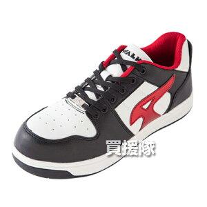 AIR WALK 軽量プロテクティブスニーカー ローカット ブラック×レッド 26.5cm AW-600 [カラー:ブラック×レッド] 【安全靴 作業靴 作業安全靴 安全シューズ セーフティスニーカー セーフティーシュ