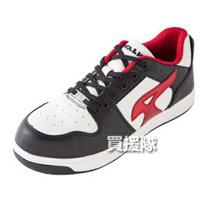 AIR WALK 軽量プロテクティブスニーカー ローカット ブラック×レッド 28.0cm AW-600 [カラー:ブラック×レッド] 【安全靴 作業靴 作業安全靴 安全シューズ セーフティスニーカー セーフティーシュ