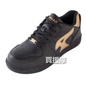 AIR WALK 軽量プロテクティブスニーカー ローカット ブラック×ゴールド26.0cm AW-610 [カラー:ブラック×ゴールド] 【安全靴 作業靴 作業安全靴 安全シューズ セーフティスニーカー セーフティー