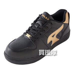 AIR WALK 軽量プロテクティブスニーカー ローカット ブラック×ゴールド 28.0cm AW-610 [カラー:ブラック×ゴールド] 【安全靴 作業靴 作業安全靴 安全シューズ セーフティスニーカー セーフティー