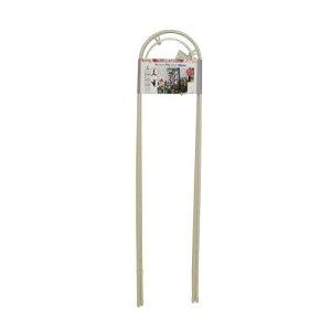 第一ビニール スモールオベリスク ホワイト 120cm [カラー:ホワイト] 【バラ 薔薇 ガーデニング つる性植物 つる植物 庭 バラ園 薔薇園 お庭 ガーデン ローズ 支柱 キレイ 上品 資材 柱 アーチ