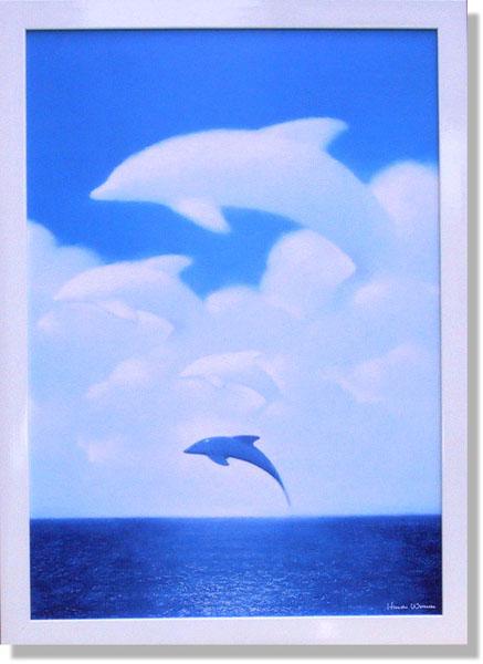 絵画 渡辺宏・流れる雲とともに アート インテリア