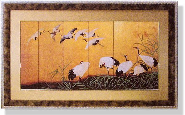 和風フレーム・鶴の舞