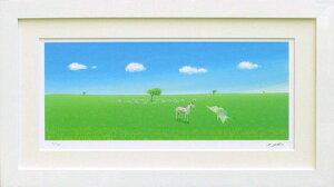 絵画 版画 葉祥明・はちそうのぼくに教えて インテリア