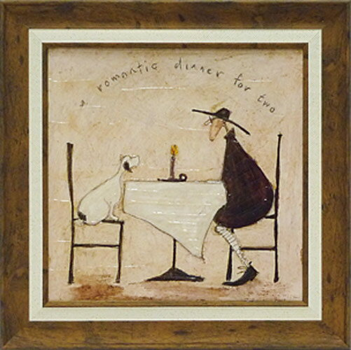 サムトフト・2人のロマンチィックディナー(絵画・複製画)
