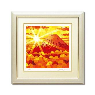 藤谷壯仁郎、黄金紅富士(繪畫、版畫、花、室內裝飾、墻壁裝飾)