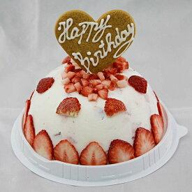 アイスケーキ 誕生日 いちごヨーグルトアイスケーキ お誕生日 バースデイ お誕生会 ホームパーティ プレゼント カード付き アイスクリーム 魁ジェラート