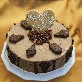 【送料無料】アイスケーキ 誕生日 チョコレートアイスケーキ 6号サイズ 直径18cm 大きめサイズ ケーキアイス 大人数用 ケーキ アイス お誕生日 バースデイ お誕生会 ホームパーティ プレゼント カード付き アイスクリーム 魁ジェラート アイスクリームケーキ