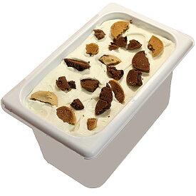 アイスクリーム 業務用 マミークッキー&ビスコッティークリーム 4L 業務用アイスクリーム やさしいチョコとバニラのクッキーアイス 家庭用 ギフトでも可 イベント模擬店でも可 容量4リットル デッシャーで40個分 宅配便 アイス 魁ジェラート