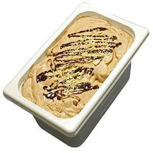 チョコレートとパイ生地のミルフィーユ 業務用アイスクリーム チョコレートに焼きたてパイ生地をサンド 家庭用 ギフトでも可 イベント模擬店でも可 容量4リットル デッシャーで